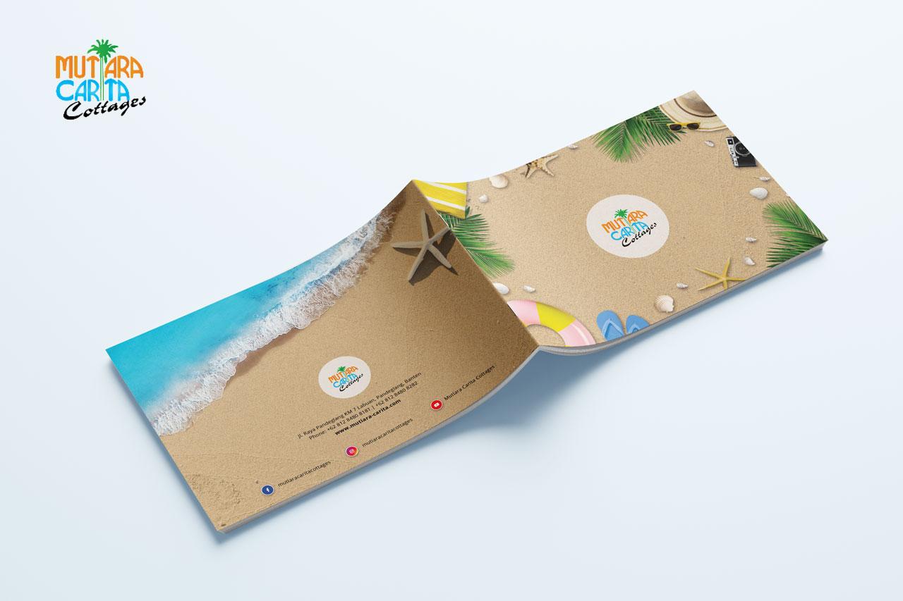 Desain Booklet Mutiara Carita Cottages